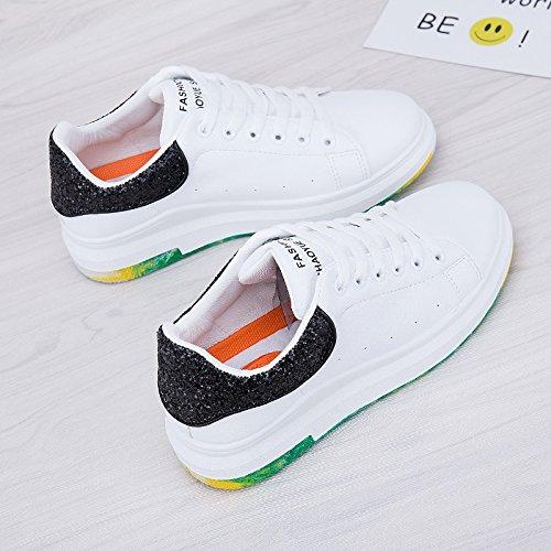 scarpe bianco Bianco Wuyulunbi e Molla nero Zwf1nxvYHq