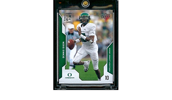 - Oregon Rookie Football Card 2008 Upper Deck Draft Edition # 24 Dennis Dixon RC