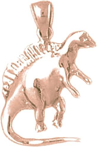 Sterling Silver 925 Spinosaurus Dinosaur Pendant Jewels Obsession Spinosaurus Dinosaur Pendant 24 mm