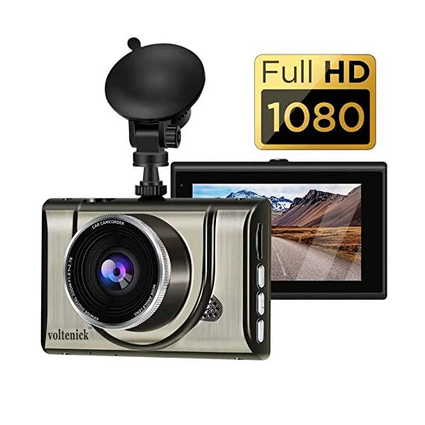 Dash Cam 1080P FHD 3 Inch IPS Screen Metal Shell Dash Camera for Cars,Car DVR Dashboard...
