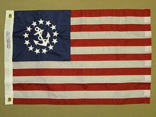 Annin U.S. Yacht Ensign 16 x 24-Inch Sewn Us Yacht Ensign Nyl-Glo Flag