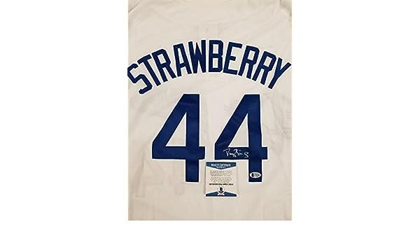 best sneakers f4150 02ed4 Darryl Strawberry Autographed Jersey - Custom ~ Beckett BAS ...
