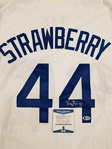 best sneakers 1bba8 cbf2e Darryl Strawberry Autographed Jersey - Custom ~ Beckett BAS ...