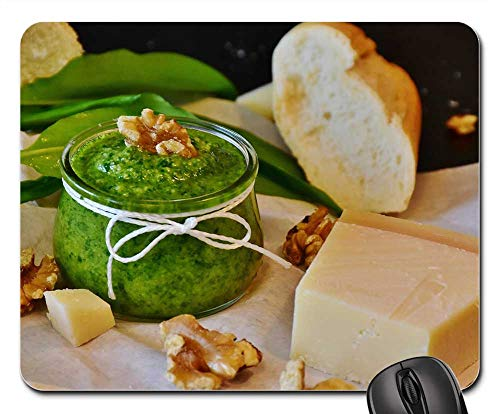 (Mouse Pad - Pesto Bear Garlic BArlauch Pesto Herbs Homemade 1)