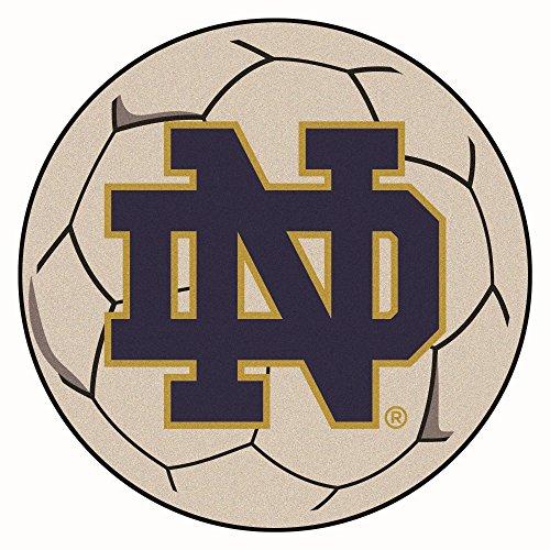 Irish Notre Dame Soccer Ball - Fan Mats University of Notre Dame Soccer Ball Rug