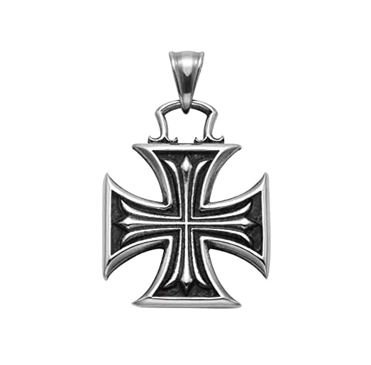 width jewelry necklace inches v silver cross firefighter bling maltese pendant sterling p