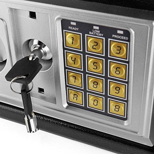 Flexzion Digital Electronic Safe Box Keypad Lock Security