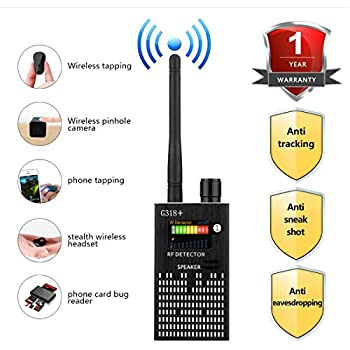 Anti Spy Wireless RF Signal Detector, Bug Detector, Upgraded Hidden Camera Detector, KORKUAN GSM Eavesdropping Device for Wireless Audio Bug, GPS Rader Radio Scanner