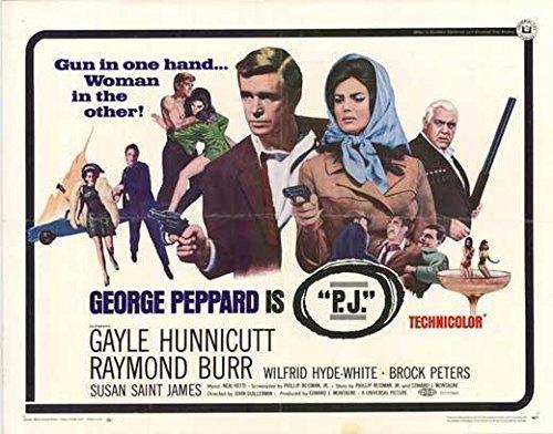 P.J. Poster Movie 1968 Style A George Peppard Raymond Burr Gayle Hunnicutt Brock Peters