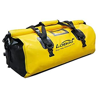Loboo 66L Waterproof Bag Expedition Dry Duffel Bag Motorcycle Luggage For Travel ,Sports, Cycling,Hiking,Camping(Large,Yellow)