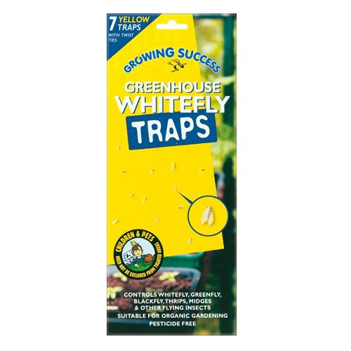 Growing Success Greenhouse Whitefly Traps, 7 Traps Per Pack GF2549