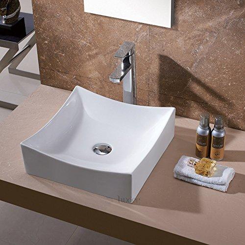 Luxier CS-016 Bathroom Porcelain Ceramic Vessel Vanity Sink Art Basin by Luxier