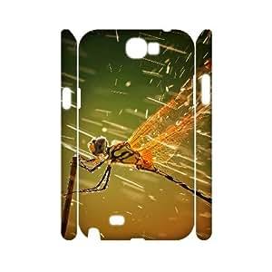 CHSY CASE DIY Design Rain Dragonfly Pattern Phone Case For Samsung Galaxy Note 2 N7100