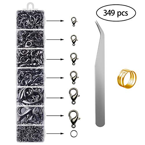 - Jewelry Making Supplies - Jewelry Findings Kit Supplies Jump Rings Lobster Clasp for Girl and Adults DIY Jewrlry Making