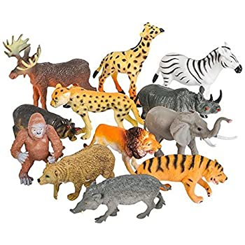 Amazon.com: Toy Spout 12 Realistic Animal Toy Figures ...