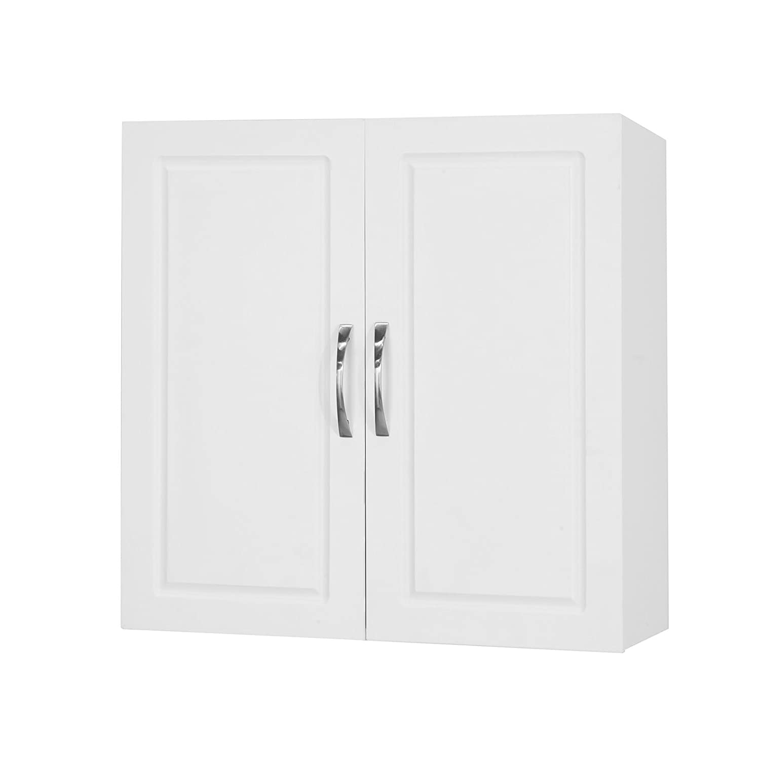 SoBuy FRG231-W, White Kitchen Bathroom Wall Cabinet Wall Storage Cabinet Unit with Double Doors, 60x30x60cm