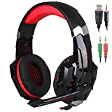 KOTION EACH Gaming Headset 3.5mm jack with LED Backlit and Mic Stereo Bass Noise Cancelling for Computer Game Player by SENHAI by Senhai