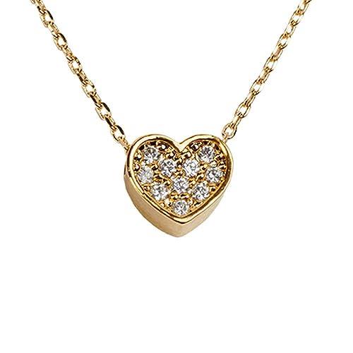 fb58bef88c60 LuckyLy – Collares Swarovski Mujer – Collar Corazón Melody – Cadena Baño de  Oro – Dije