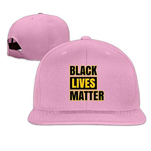 (Black Lives Matter Logo Flat Brim Baseball Cap Pink)