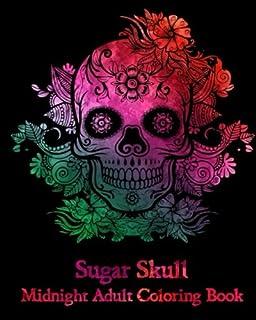 Sugar Skull Midnight Adult Coloring Book