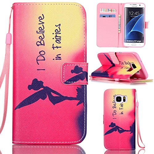 Galaxy S7 Edge Case,Gift_Source Colorful Cute PU Leather Wallet Leather Case Built-in Card Slots Flip Cover with Hand Strap for Samsung Galaxy S7 Edge [I Do Believe in - Fashion Faire