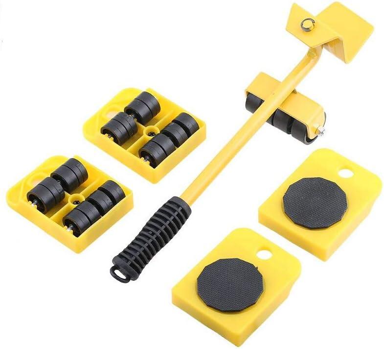 XLtools Pro Technik - Juego de 5 ruedas para levantar y mover muebles (hasta 150 kg)