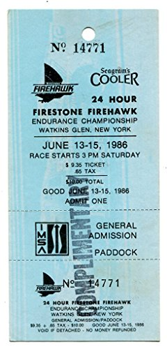 24 Hour Firestone Firehawk Watkins Glen Ticket June 15 1986