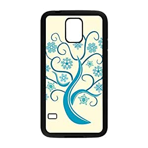 The Blue Tree Made By Snow Hight Quality Plastic Case for Samsung Galaxy S5