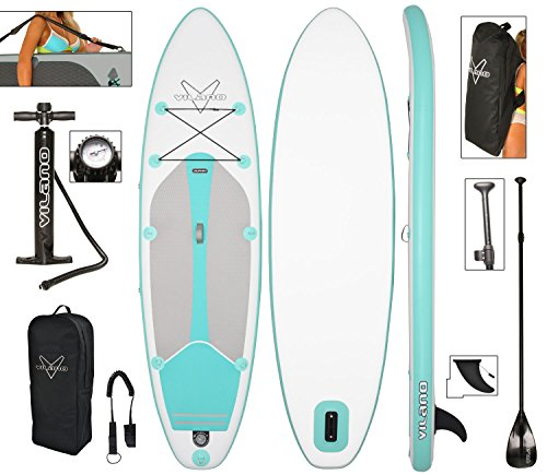 Vilano Journey Inflatable SUP Stand up Paddle Board Kit (Best Cheap Paddle Board)