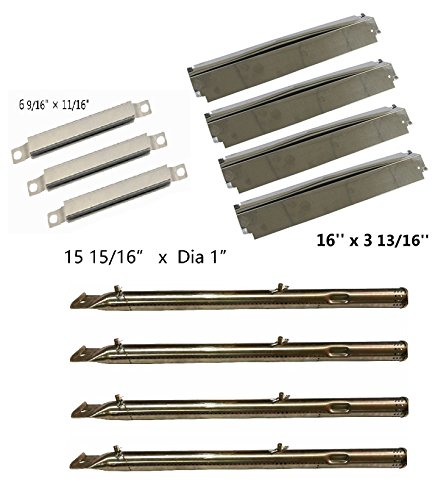 Hongso Charbroil 463247310, 463257010 Replacement KIT Burner,crossover Tubes, heat Shield-4pk (SBD731-SPC321-SBE592) (Kit W1)