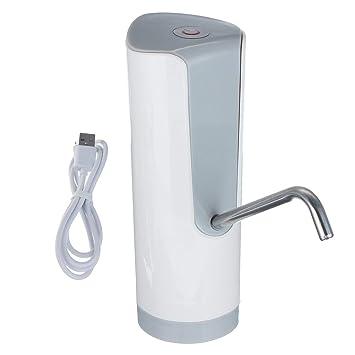 Inalámbrico Recargable Automático Eléctrico Botella de Agua Dispensador Bomba de Agua Potable Interruptor Herramientas para Bebidas (blanco): Amazon.es: ...
