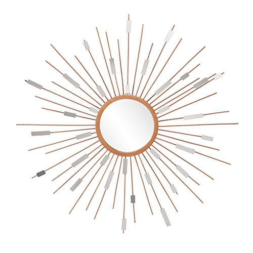 Starburst Mirrored Wall Sculpture - Hanging Art Deco Wall Art - Sunburst Design ()