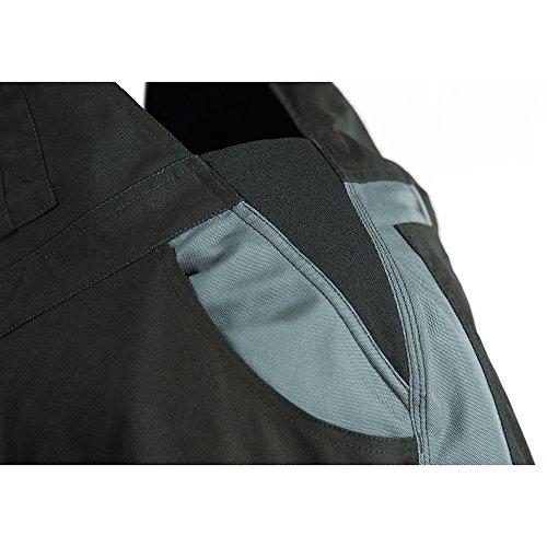 Elysee Canvas-Latzhose Everton, 1 Stück, Größe 52, schwarz / grau, 22571-52