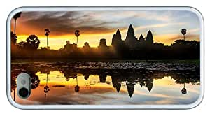Hipster girly iPhone 4 cases angkor wat temple cambodia TPU White for Apple iPhone 4/4S