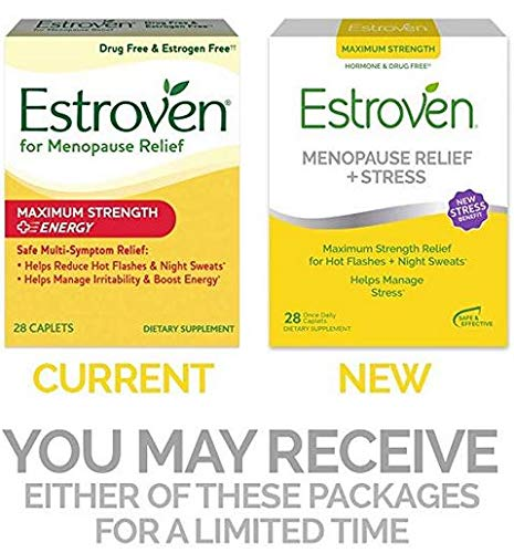Estroven Maximum Strength + Energy - One Per Day Formula - 2 Boxes, 60 Caplets Each