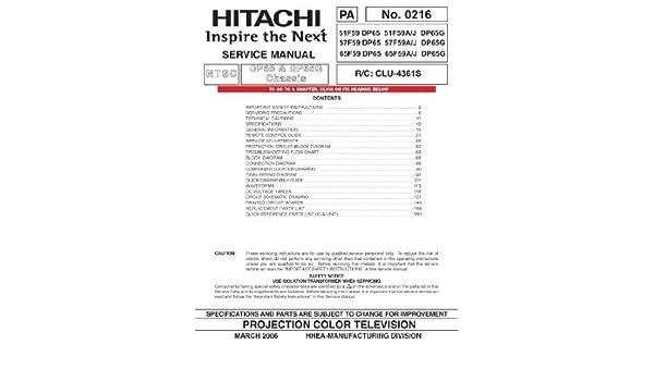 Hitachi 57f59a service manual pdf download.