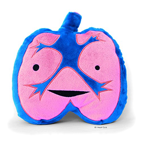 LOUD LUNGS Designer Plush Figure - I Lung Rock n' Roll! from the I Heart Guts Series (Tummy Ache Game)