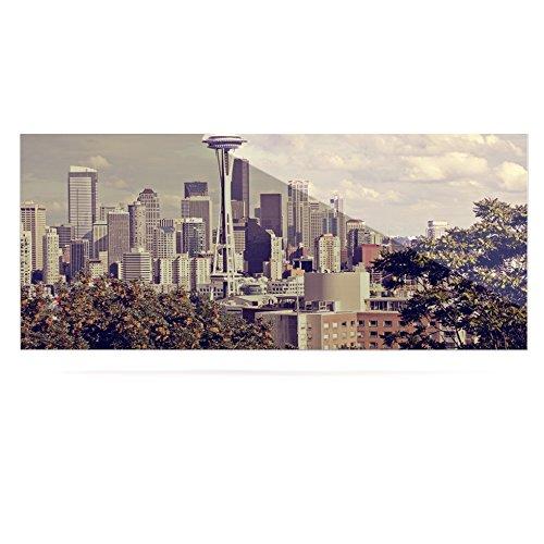 Kess InHouse Sylvia Cook Space Needle Beige Skyline Luxe Rectangle Panel 24 x 36