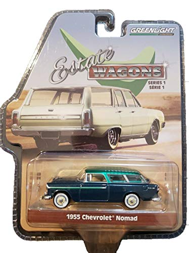 - Greenlight Rare Chase Green Machine 29910-A Estate Wagons Series 1-1955 Chevrolet Nomad 1:64 Scale