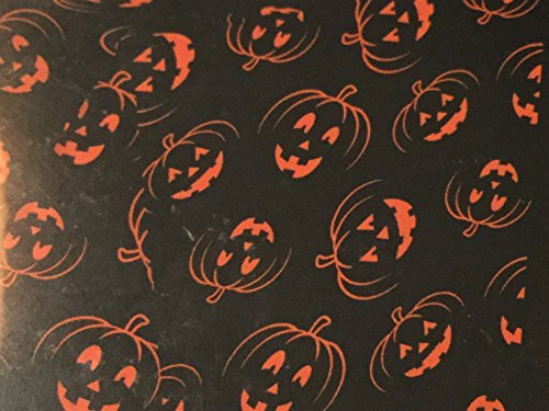 Wholesale Merchandisers LLC Halloween Jack O Lantern Vinyl Tablecloth -