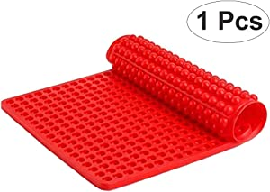 Silicone Baking Mat Cooking Sheets,Baking Mould for Biscuits/Chocolate/Dog Treats/Puppy Cookies (Red)