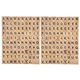 Happy Hours - Individual Alphabet Letters Scrabble Tiles Set / DIY Wooden Letter Crafts For Children Student ( 200 PCS )