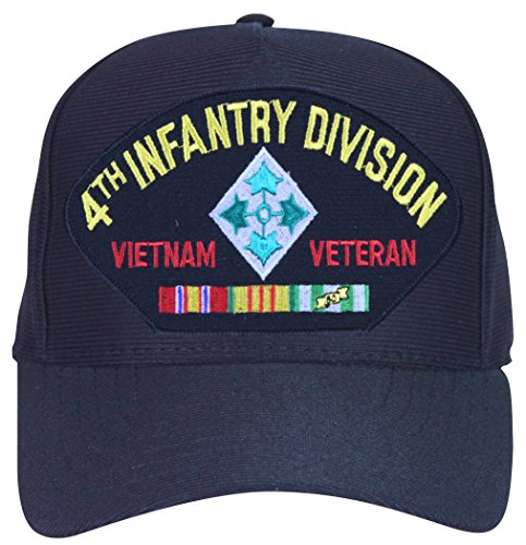 4th Infantry Division Vietnam (4th Infantry Division Vietnam Veteran with Patch and Ribbons Ball Cap)