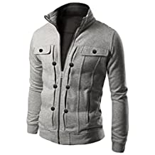 Azbro Men's Highneck Zip Up Jacket