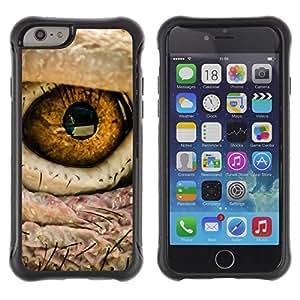 "Pulsar iFace Series Tpu silicona Carcasa Funda Case para Apple (4.7 inches!!!) iPhone 6 , Ojo de pájaro intenso Macro Foto Fuego"""