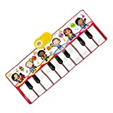 QXMEI Dance Blanket Children's Dance Blanket Foot Dancing Blanket Sound Music Piano Rug Preschool Learn Children Toddler Piano Toys Product Size: 47.2inchs 18.1inchs,Red
