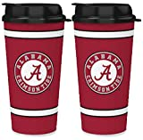 NCAA Alabama Crimson Tide 32oz Single Wall Travel Mug 2 Pack