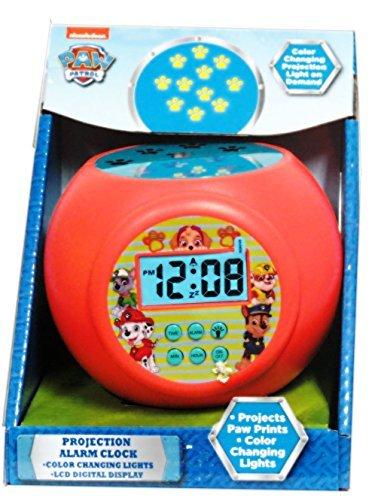 Red Paw Patrol Projector Alarm Clock