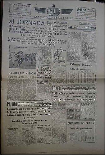 GOL DIARIO DEPORTIVO. Año 1 núm 109 lunes 9 diciembre 1940: Amazon.es: HERNANDEZ USOBIAGA Valeriano (Director): Libros