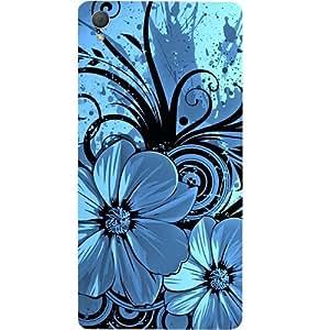 casotec Cute Floral azul diseño duro Carcasa funda para Sony Xperia Z3